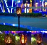 Jardin extérieur 96LED Lampe torche solaire pelouse feu flamme Paysage