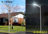 Lâmpada solar Integrated completa do jardim do diodo emissor de luz do fabricante claro solar profissional