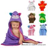 Animial sveglio progetta il tovagliolo di bagno incappucciato del tovagliolo del bambino