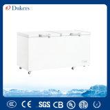 Dukers 720L двойные двери морозильный ларь