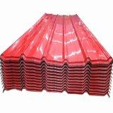 Folha de metal corrugado galvanizado do teto de cor