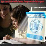 100% de energia solar DC Ventilador Solar com luz LED lâmpada de leitura Solar com ventilador Solar