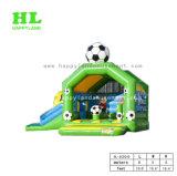 Grünes Jungen-Fußball-Thema-aufblasbares kombiniertes mit Plättchen