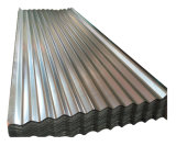 Folha de metal galvanizado de papelão ondulado para construir
