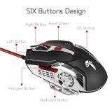 6D-красочных светодиодный указатель мыши игры (M-73)