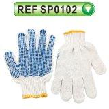 Поставленная точки PVC перчатка сада перчатки перчатки хлопка работая (SP0101)