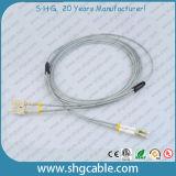 Cabo de correção de programa blindado frente e verso do cabo da fibra óptica de FC-FC milímetro