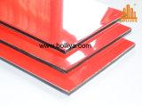 PE Nano PVDF di spettri della spazzola d'argento di pietra di legno di legno dello specchio che ricopre il materiale composito di alluminio della parete divisoria di 2mm 6mm 3mm del rivestimento esterno interno 4mm della facciata