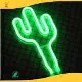 Оптовая торговля новые 2018 продукт Зеленый кактус неоновой лампы при помощи USB светодиодный индикатор кактуса