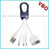 Кабель заряжателей мобильного телефона кабельного соединителя данным по USB Keychain новых продуктов портативный микро- для iPhone 5s 6s
