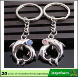 Popular Metal Cute Animal Key Chain para Amantes