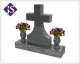 2017 pietre tombali nere poco costose/monumenti di nuovo disegno con la scultura del ritratto