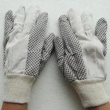 Пвх пунктирной Canvas Перчатки рабочие перчатки промышленной безопасности