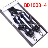 Fashion Jacquard Stripes Button / Clip Suspender pour homme (BD1008)