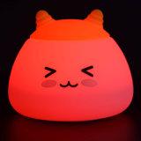 변화 아이 가벼운 귀여운 LED 토끼 LED 밤 램프를 착색하십시오