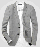 Tasten-Klage-Jacken-Blazer der hochwertigen Männer beiläufiger der Form-2
