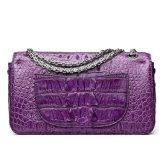 La borsa reale superiore delle donne del cuoio della pelle del coccodrillo di disegno di marca con cita il certificato