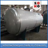 Tanque de armazenamento horizontal qualificado ISO do gás do aço inoxidável