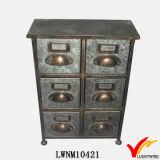 Gabinete de arquivamento de 7 gavetas de móveis de estilo industrial