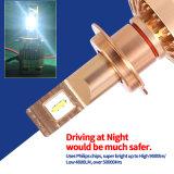 Più nuovo faro dell'indicatore luminoso H4 LED dell'automobile di disegno con l'indicatore luminoso del LED di azionamento chiaro automatico del CREE e del LED