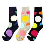 Neuer Entwurf gekämmte Baumwollglückliche Socken