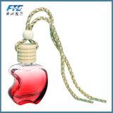 Bouteille de parfum vide colorée pendante de véhicule de parfum en verre