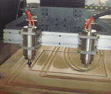 Ranurador del CNC de la máquina de grabado de la carpintería para la madera con el vector del vacío