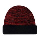 Черный цвет Зимнего Custom трикотажные Beanie Red Hat