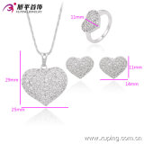 Romantic Wedding를 위한 63582 새로운 Fashion Elegant 심혼 Shaped Diamond Jewelry Set