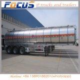 De aluminio de 3 ejes de camiones cisterna semi remolque para combustible/agua/vino