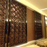 フォーシャンのステンレス鋼の装飾的な壁スクリーンの製造業者ホテルのロビーのための移動可能な部屋ディバイダスクリーン