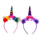 2018 accessori caldi dei capelli di Cosplay della fascia dell'unicorno del partito dei bambini di vendita di nuovo arrivo