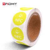 Round PVC autocolante NFC Inlay RFID para pagamento