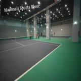 De tennisbaan Gebruikte Plastic Sporten die van pvc de Dikte van 10mm vloeren