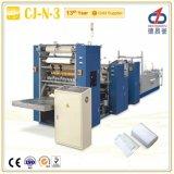 N dobla la toalla de mano que hace la máquina (3 carriles - la laminación)