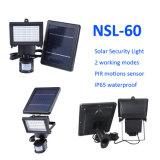 Nsl-60 de la luz de seguridad del panel solar