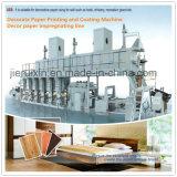 Decore a impressão de papel e a máquina de revestimento / papel de decoração da linha de impregnação