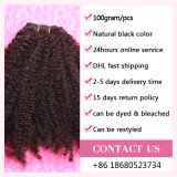 Волосы 100% Coily бразильские Remy естественной скручиваемости выдвижения человеческих волос девственницы естественные