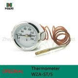 Wza-St / 5 termómetro capilar de acero inoxidable con 0-350c