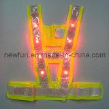 Nastro riflettente infiammante dell'alta maglia di visibilità della maglia LED di sport En471