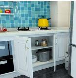 De witte Lineaire Houten Keukenkast van de Stijl