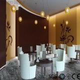 L'utilisation commerciale durable en marbre noir un revêtement de sol en vinyle à grain