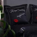 100% algodão bordadas Grampos Extra-Long camas de luxo 4 pedaço edredão cobrir Definir Conjunto de folhas