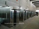 Forno della cremagliera del gas dei 64 cassetti/forno rotativo di convezione/forno rotativo (iso del CE)