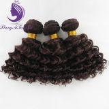 #4 profunda Tecelagem de fio de cabelo humano ondulado