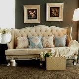 Amortiguador decorativo del sofá de la almohadilla del telar jacquar del borde de lujo de la borla
