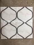 Azulejo de suelo esmaltado de cerámica de la pared de la inyección de tinta del diseño de madera