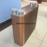 Cambiador de calor cubierto con bronce cobre de la placa para la calefacción por agua