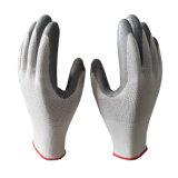 Doublure en polyester gris bon marché des gants en nitrile taille 10