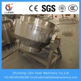 Chaleira de cozimento de mistura Jacketed do vapor industrial de 300 litros com agitador